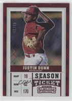 Season Ticket - Justin Dunn (Jersey Number Not Visible) /15