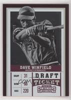 Dave Winfield (Black and White) /99
