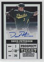 Prospect Ticket Autographs - David Peterson #67/99