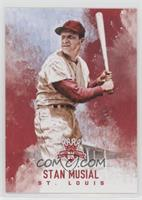 Stan Musial (Solid Red Background)