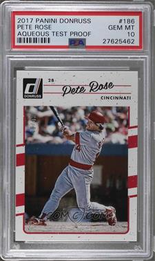 2017 Panini Donruss - [Base] - Aqueous Test #186.1 - Base - Pete Rose /49 [PSA 10 GEM MT]
