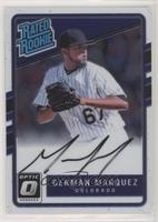 Rated Rookies Base Autographs - German Marquez