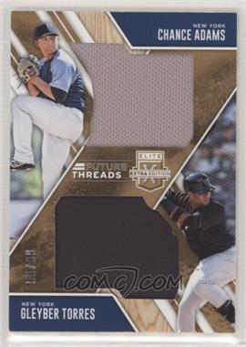 2017 Panini Elite Extra Edition - Future Threads Silhouettes Duals - Holo Gold #FTSD-CG - Chance Adams, Gleyber Torres /99