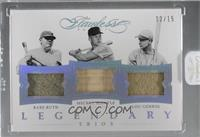 Babe Ruth, Lou Gehrig, Mickey Mantle /15 [Uncirculated]