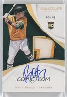 Rookie Auto Patch - Ryon Healy #/49