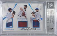 Clayton Kershaw, David Price, Jake Arrieta /10 [BGS 9 MINT]