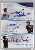 Nolan Arenado, Brendan Rodgers, Todd Helton /10