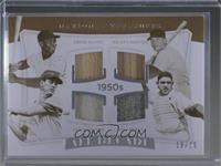 Ernie Banks, Mickey Mantle, Ted Williams, Yogi Berra #/25