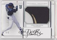 Rookie Materials Signatures - Lewis Brinson #/5
