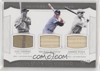 Jimmie Foxx, Lou Gehrig, Mickey Mantle #/25
