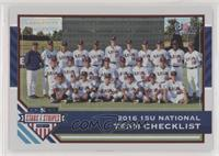 Team Checklists - USA Baseball 15U National Team #/99