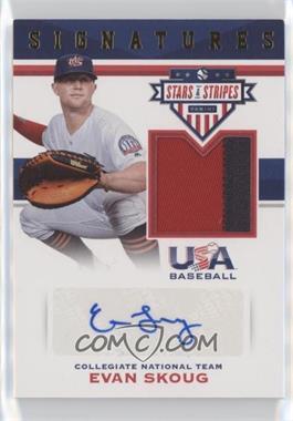 2017 Panini USA Baseball Stars & Stripes - Stars and Stripes Signatures - Prime #19 - Evan Skoug /25