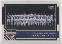 Team Checklists - USA Baseball 18U National Team /249