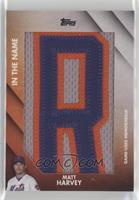 Matt Harvey (Letter R) #/1