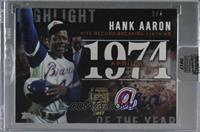 Hank Aaron (2015 Topps Update Series Highlight of the Year) /4 [Buy Back]