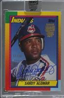 Sandy Alomar Jr. (1990 Topps Traded) [BuyBack] #/16