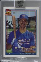 Juan Gonzalez (1991 Topps) /41 [Buy Back]