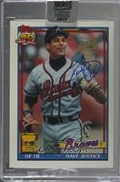 David Justice (1991 Topps) /77 [Buy Back]