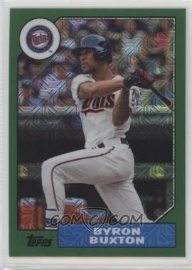 2017 Topps Baseball Continuity Program Chrome 1987 Design Refractor - [Base] - Green #87-BB - Byron Buxton /150