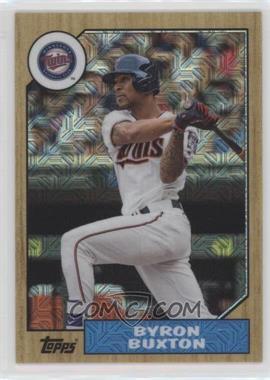 2017 Topps Baseball Continuity Program Chrome 1987 Design Refractor - [Base] #87-BB - Byron Buxton