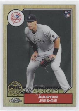 2017 Topps Chrome - 1987 Design #87T-8 - Aaron Judge