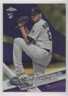 2017 Topps Chrome - [Base] - Purple Refractor #42 - German Marquez /299