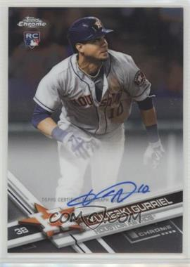 2017 Topps Chrome - Rookie Autographs #RA-YG - Yulieski Gurriel