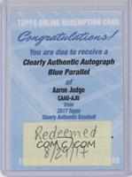 Aaron Judge /25 [REDEMPTION Being Redeemed]