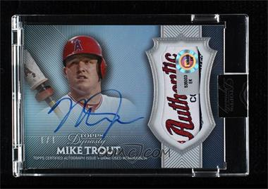 2017 Topps Dynasty - Autograph Patches - 1 of 1 #AP-MT5 - Mike Trout /1 [Uncirculated]
