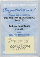 Andrew Benintendi [Being Redeemed] #/10