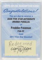 Freddie Freeman /5 [BeingRedeemed]