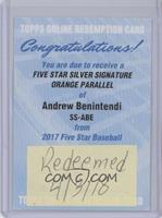 Andrew Benintendi [Being Redeemed] #/5