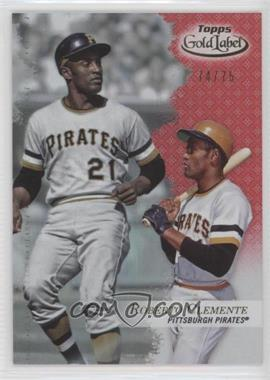 2017 Topps Gold Label - [Base] - Class 1 Red #26 - Roberto Clemente /75