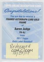 Aaron Judge [REDEMPTIONBeingRedeemed]