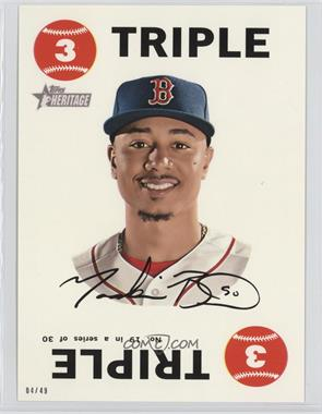 2017 Topps Heritage - 1968 Topps Game - Topps Online Exclusive 5 x 7 #19 - Mookie Betts /49