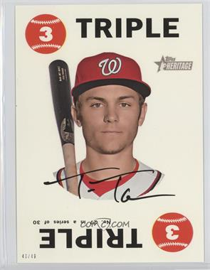 2017 Topps Heritage - 1968 Topps Game - Topps Online Exclusive 5 x 7 #27 - Trea Turner /49