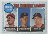 League Leaders - Robbie Ray, Madison Bumgarner, Max Scherzer #/50
