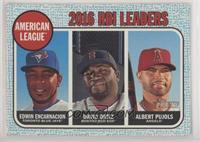 League Leaders - Edwin Encarnacion, Albert Pujols, David Ortiz #/50