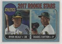Ryon Healy, Jharel Cotton #/68