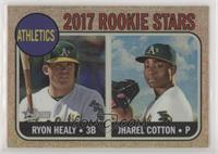 Ryon Healy, Jharel Cotton #/568