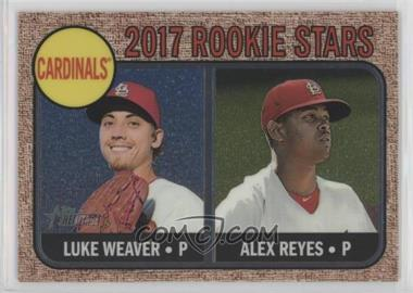 2017 Topps Heritage - [Base] - Chrome Rookie Stars #162 - Luke Weaver, Alex Reyes /999