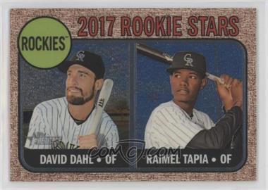 2017 Topps Heritage - [Base] - Chrome Rookie Stars #258 - David Dahl, Raimel Tapia /999