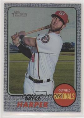 2017 Topps Heritage - [Base] - Hot Box Chrome Purple Refractor #THC-427 - Bryce Harper