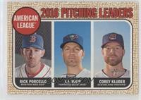 League Leaders - Corey Kluber, J.A. Happ, Rick Porcello (Base)