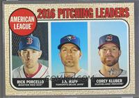 League Leaders - Corey Kluber, J.A. Happ, Rick Porcello (Error Variation)