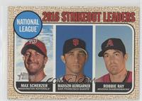 League Leaders - Robbie Ray, Madison Bumgarner, Max Scherzer