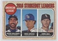 League Leaders - Justin Verlander, Chris Sale, Chris Archer