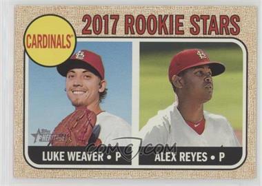 2017 Topps Heritage - [Base] #162.1 - Rookie Stars - Luke Weaver, Alex Reyes (Base)