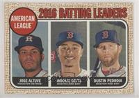 League Leaders - Dustin Pedroia, Mookie Betts, Jose Altuve