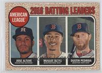 League Leaders - Dustin Pedroia, Mookie Betts, Jose Altuve